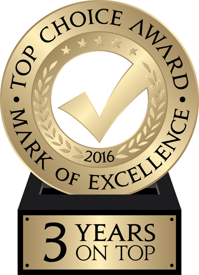 Top Choice Award 2016 - Three Years on Top