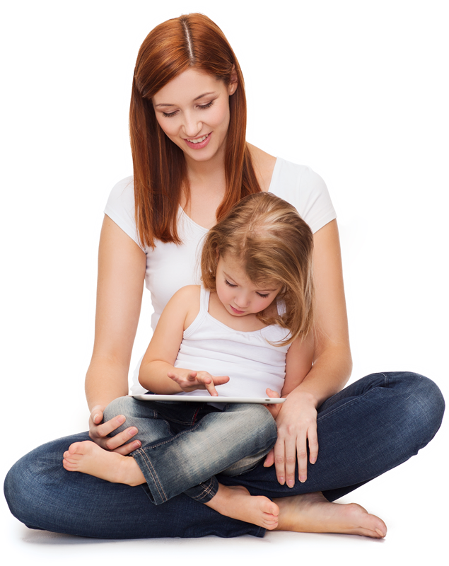 mom-kid-tablet