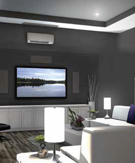 Daikin ductless air conditioner in living room