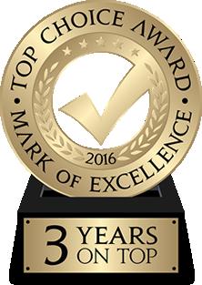 Top Choice Award 2016 Vaughan