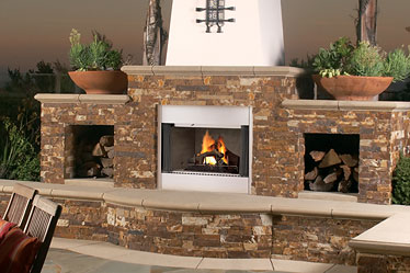 Admirable Lennox Mpod Outdoor Wood Burning Fireplace Home Remodeling Inspirations Genioncuboardxyz