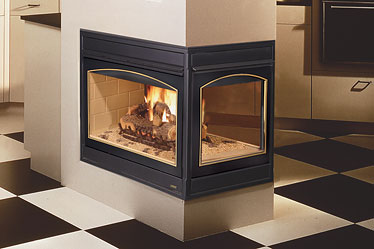 Lennox Ebvpf 3 Sided Peninsula Gas Fireplace Toronto
