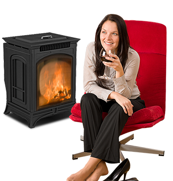 Woman-with-fireplace