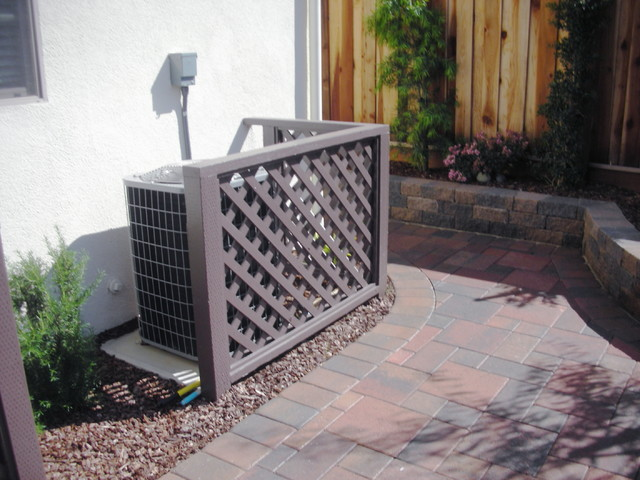 Air-conditioner-lattice-fence