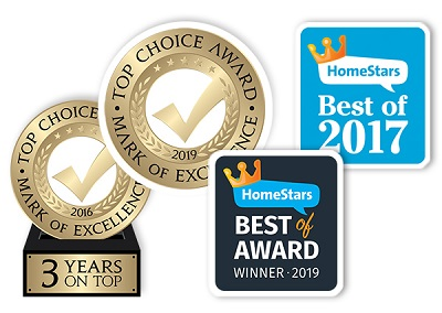 Top Choice and HomeStars Awards won Husky
