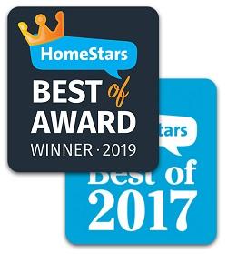 HomeStars Awards 2019 and 2017
