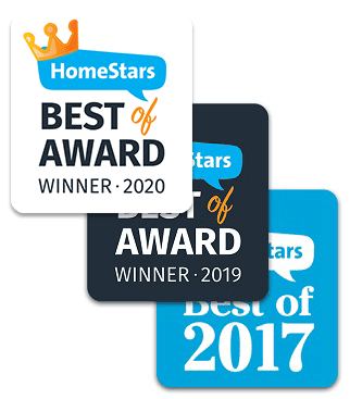 HomeStars Awards 2020, 2019 and 2017