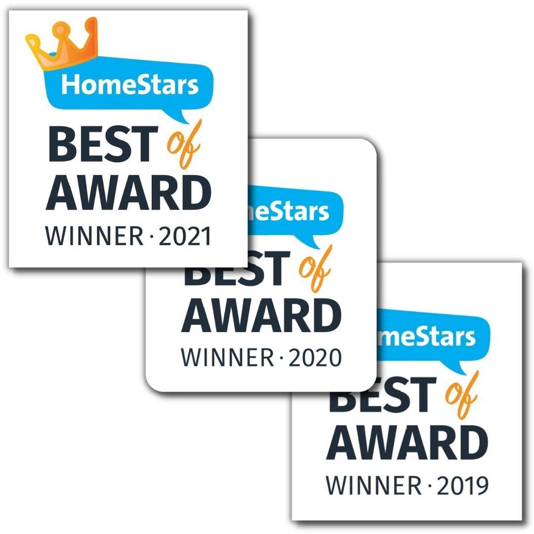 HomeStars Awards 2021, 2020, 2019
